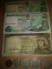 billetes y monedas Portugal