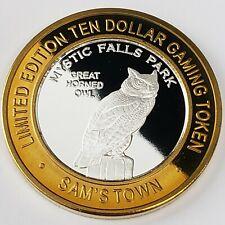 New Listing2007 S Sam's Town Casino .999 Silver Strike $10 Great Hornes Owl Token !St0706