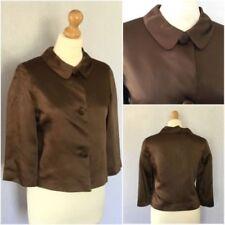 Cappotti e giacche da donna formale marrone con monopetto