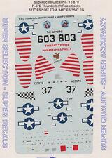 1/72 SuperScale Decals P-47D Thunderbolt Razorback 526th FG 350th FG 72-879