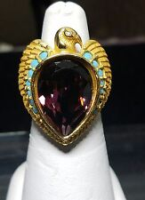 VINTAGE ELIZABETH TAYLOR FOR AVON EGYPTIAN FALCON REVIVAL RING SIZE 5.5