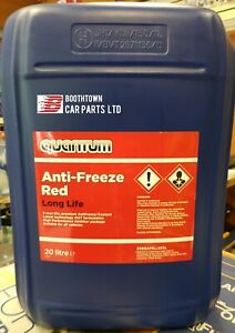 Quantum Red CONCENTRATED AUDI VW Red Long life  (5yr) antifreeze - 20 LITRE 20L