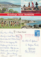1990's MULTI VIEWS OF DUNOON ARGYLLSHIRE SCOTLAND COLOUR POSTCARD
