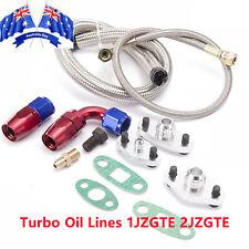 Turbo Oil FEED & RETURN Line Kit  For Toyota Supra 1JZ / 2JZ Single 1JZGTE 2JZGT
