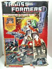 1987 Transformers G1 Headmaster Autobot Base Fortress Maximus w/ Original Box
