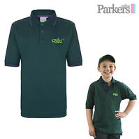 BRAND NEW CUBS POLO SHIRT TOP T-SHIRT GREEN SCOUTS OFFICIAL UNIFORM SIZE 26 -34""