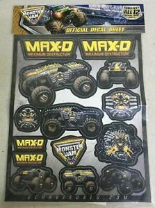 D'COR Decal Sheet Max D Maximum Destruction Monster Jam Monster Trucks 40-90-201
