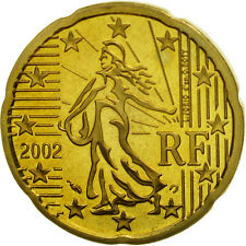 [#462082] France, 20 Euro Cent, 2002, BE, Laiton, KM:1286