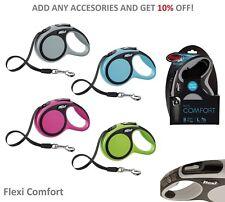 Dog Lead Retractable Flexi Comfort Dog Extending Lead Cord Tape Soft Grip Handle