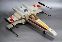 VINTAGE STAR WARS COMPLETE X-WING FIGHTER + Luke Skywalker FIGURE KENNER WORKS!