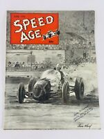 Vintage JUNE 1950 SPEED AGE MAGAZINE - TOM WARD RACE CAR ILLUSTRATION ON COVER