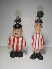 Vintage Laurel & Hardy Car Window StickDolls Figures Comedians TV Movie Stars