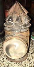 RARE Antique Lantern Whale Oil Bulls Eye Bicycle Skater Police Signal Lamp