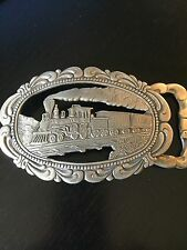 Steam Engine Belt Buckle Hand Crafted by Gary Colvin 1977 Unique Large
