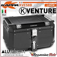 KAPPA K-VENTURE KVE58B BAULE VALIGIA 58LT ALLUMINIO NERO MONOKEY UNIVERSALE MOTO