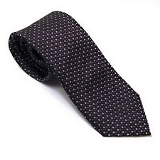 ENGLISH LAUNDRY Men's Luxury Black Purple Polka Dot Silk Tie EUC