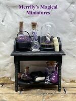 Witches Desk Dresser Fully Stocked Dolls House 1/12 Merrily's Magical Miniatures