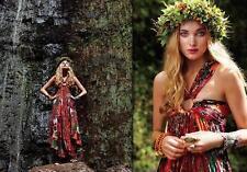 NWOT $197 Free People FP ONE semi sheer KONA MAXI DRESS raspberry red XS
