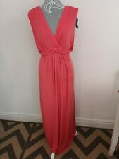 BNWT Dorothy Perkins Maxi Dress Size 18 Coral Long Grecian Summer Jersey