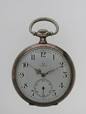 Omega Silver 0.900 Open Face Pocket Watch 1916