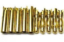 C0404x5 Rc Conector 4 Mm 4,0 mm chapado en oro Macho Y Mujer Bullet Banana X 5 Set