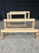 More details for 60 strong wooden trestle for market stall / display  4 sizes delivery possible