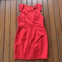 Portmans Size 16 Red Straight Pencil Dress Business Cocktail