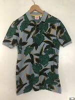 Lacoste Live Short Sleeve Polo Shirt Rare Leaf Jungle Blue Green XXS Size 1