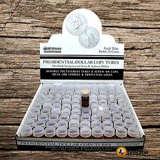 10 SMALL DOLLAR Harris  Round Clear Coin Tubes