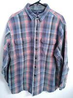 Polo Sport Sportsman Ralph Lauren Mens XL Blue Multicolor Plaid Button Up Shirt