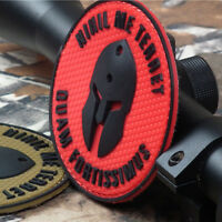 3D PVC RUBBER Nothing frightens Me Waterproof Hook Patch Backing Fastener Badge