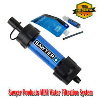 Sawyer Products MINI Water Filtration System, Portable Water Filters Single Blue