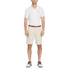 NWT Polo Golf Ralph Lauren Stretch Chino Fairway Fit Blue Pleated Shorts 38W