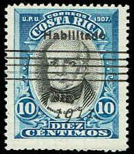 Scott # 83D - 1911 - ' Braulio Carrillo '