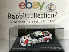 """DIE CAST """" TOYOTA CELICA TURBO 4WD RALLY CATALUNYA 1992 """" PASSIONE RALLY 1/43"""