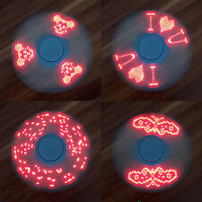 I LOVE YOU LED Message Letter Word Hand Spinner Finger EDC Gyro Stress Focus Toy