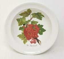 More details for portmeirion pomona 6.75 inch rimmed soup or cereal bowl the red currant oldstamp