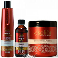 Nourishing Argan Kit Seliar ® Shampoo 350ml + Fluid 150ml + Mask 1000ml TopSet