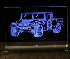 Hummer H1 als  AutoGravur auf LED-Leuchtschild