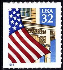 Scott #2920D 32-Cent Flag Over Porch (1996) Self-Adhesive Booklet Single - MNH