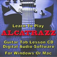 ALCATRAZZ Guitar Tab Lesson CD Software - 16 Songs