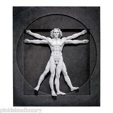 LEONARDO DA VINCI Renaissance Nude Male Vitruvian Man Wall Sculpture Statue Art