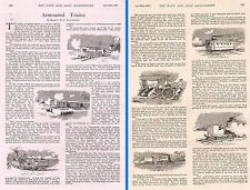 1899 BOER WAR ~ ARTICLE ~ ARMOURED TRAINS by MAJOR C.FIELD ROYAL MARINES