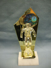 male Swimming trophy clear award personalized