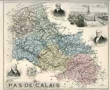 Carte, Departement du PAS-DE-CALAIS, vers 1885