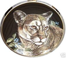 Franklin Mint Royal Doulton Wild Cat Cougar Lion Limited Edition Plate