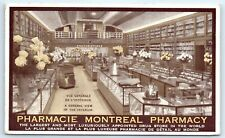 Postcard Canada Motreal Pharmacy Quebec Largest Drug Store In World B2