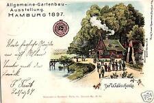 13232/ Litho AK, Hamburg, Gartenbau-Ausstellung, Gasthof zur Waldschänke, 1897