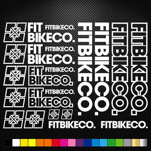 FITS Fitbikeco Vinyl Decals Stickers Sheet Bike Frame  Cycling Bicycle