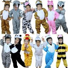 Kids Animal costumes Boys Girls Pjamas Fancy Dress outfit Cosplay Children